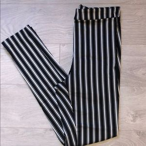 H&M Black & White Stripe Trousers NWT